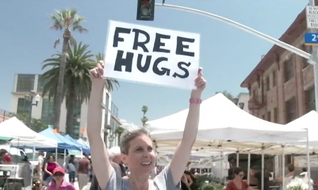 What it's really like for me to offer free hugs (video)